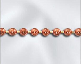 Copper Ball Chain 2.0mm (Pkg of 5ft)  (800CU-03)