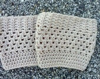 Womens Boot Cuffs // Knit Boot Cuffs // Knit Boot Socks // Knit BootToppers // Ribbed Boot Cuffs // Ribbed Boot Toppers // Crochet Boot Sock