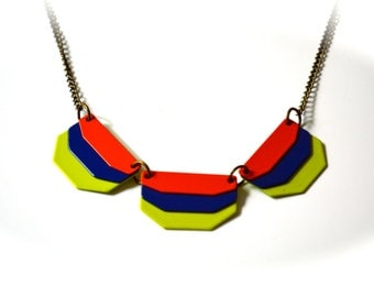 Boho Metal Necklace,Colorful Necklace,Gift For Her,Necklace Under 15 Dollar.