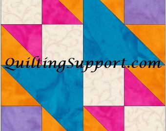 Double X 3 - 10 Inch Paper Foundation Quilting Block Pattern