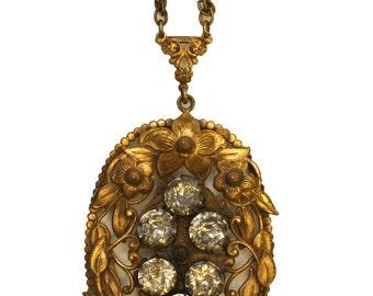 Victorian Brass Necklace // Victorian Wedding Necklace // Victorian Bridal Necklace