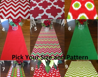 HOLIDAY TABLE Runner SIMPLYTABLERUNNERS Red Green Runners Chevron Dot Moroccan Christmas Table Runner Cloth 12 x 60 13 x 72 13 x 84 14 x 96