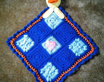Ducky Lovey Blanket  / Duck Lovie / Duck Blankie