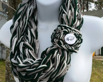 Philadelphia Eagles Scarf, Eagles Scarf, Philadelphia Eagles Fan, Chunky infinity, Football Scarf, Football, Philadelphia Eagles Apparel