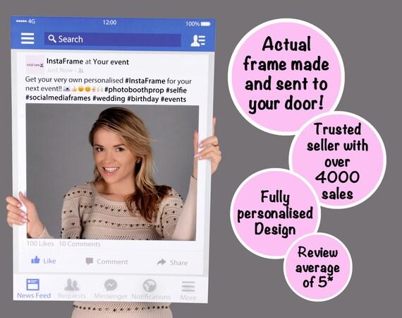 large medium personalised facebook photo booth by instaframeuk. Black Bedroom Furniture Sets. Home Design Ideas