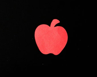 Harvest Apple Die Cut, Food related cardstock paper embellishment for Autumn Fall festivities & other DIY craft projects pick color / amount
