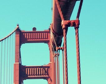 Golden Gate Bridge Photograph / San Francisco Print / California / Home Decor / Travel Photography / Iconic Architecture