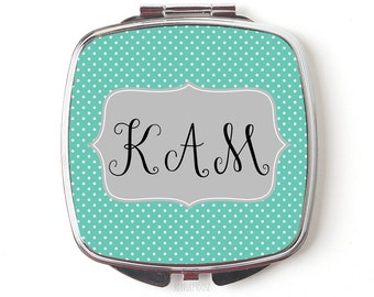 Monogram Compact Mirror - Monogram Gift for Her - Personalized Compact mirror