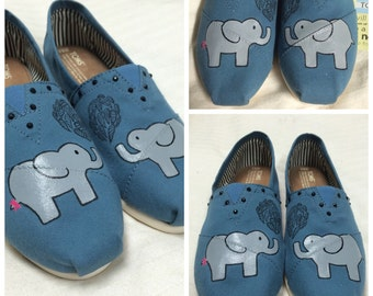 Custom Painted Elephant Toms