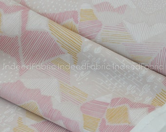 Olympus Pink- Lore, Cloud 9 Fabrics, Certified Organic Cotton Fabric, Quilting Weight