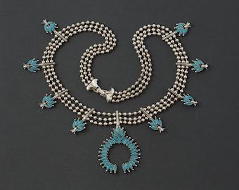 Vintage Goldette Squash Blossom Necklace