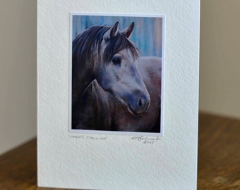 Saras Stallion Greeting Card