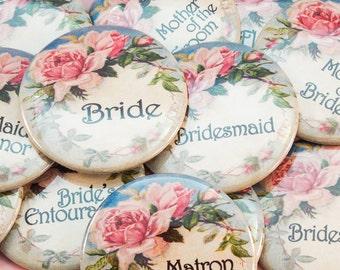 """2.25"""" Vintage Floral Bachelorette Party Buttons"""