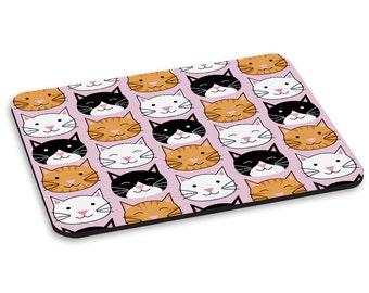 Cat Kitten Faces Pattern PC Computer Mouse Mat Pad