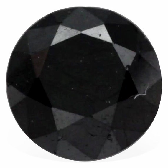 1.01 Cts Rare Black Diamond Untreated Natural Color Loose