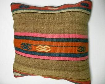 "sale kilim, pillows, kilim pillow, coverscushion, cover, accent pillow, decorative, ,16""x16"",Decorative Kilim Pillow,Kilim Embroidery"