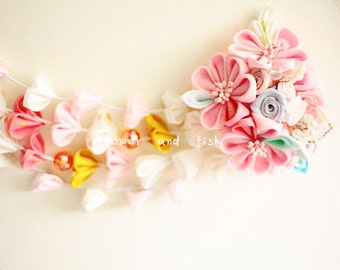 hair accessories for kimono yukata-wedding bridal hair stick, bridal hair piece,  wedding hair accessories, Bridal flower-B47