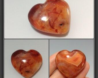 Carnelian heart 29x32x15mm