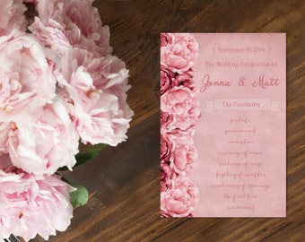 Wedding Programs / PRINTED Wedding Program for your Wedding Ceremony
