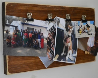 Reclaimed Wood Clipboard Picture Frames Vintage Picture Montage On Your Wall