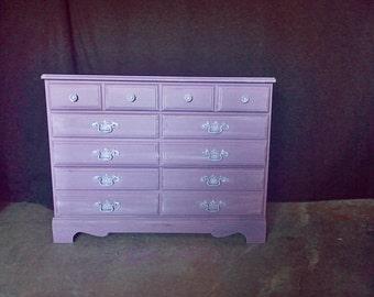 Shabby Chic/distressed purple dresser