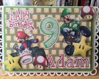 Mario Kart Boys Birthday card