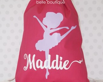 Personalized Dancer Ballet bag, Dance bag, Dance Gifts, Dance recital gift, Kids dance bag, Dancer ballet recital gift, Dancer Ballet gift