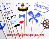 Sailor Theme Photo Props - Perfect for your Wedding or Party Photo Booth!