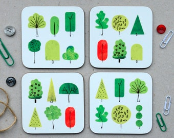 Nature Coasters Set of 4