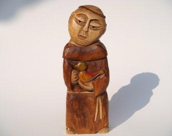 SAINT FRANCIS handcrafted wooden sculpture
