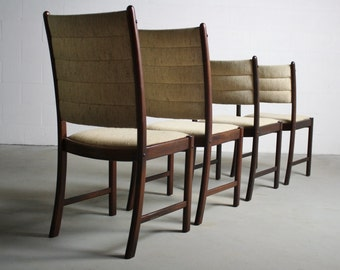 1970's Rosewood Danish Modern Dining Chairs - A Set of 4
