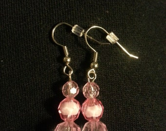 Pink Beads with smaller round pink beads