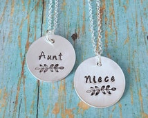 Aunt and Niece Necklaces - Aunt and Niece - Gift for Niece - Gift for Aunt -Aunt and Niece Set -Aunt and Niece Matching -Aunt and Niece Gift
