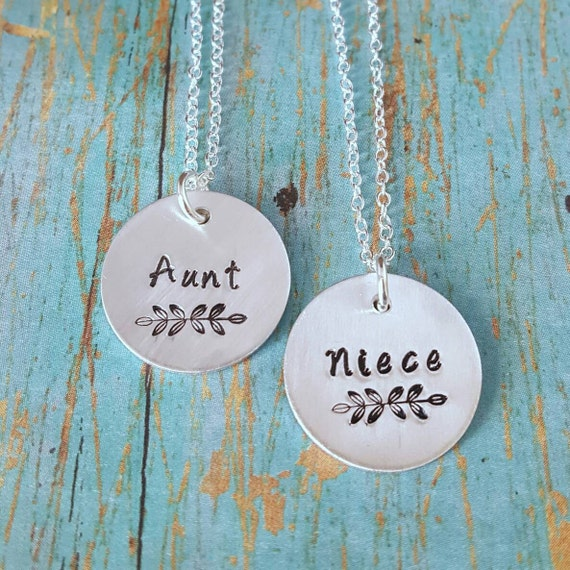 Wedding Gift For Aunt: Aunt And Niece Necklaces Aunt And Niece Gift For Niece