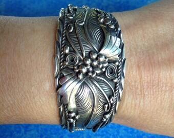 Sterling silver Yazzie Johnson Navajo artist bracelet