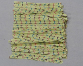 Free Ship! Spring Flowers Twist Ties - Assorted Quantities! TTP-7