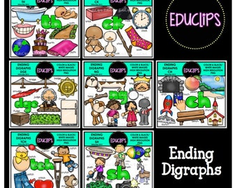 Ending Digraphs Mega Clip Art Bundle