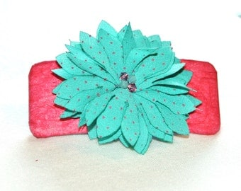 Coral with Teal Flower
