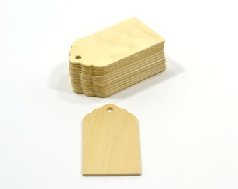200 Wooden Fancy Memory Gift Tags-Natural Unfinished Hand Tags-Wedding Favors-Memory Tags-Wedding Gift Tags