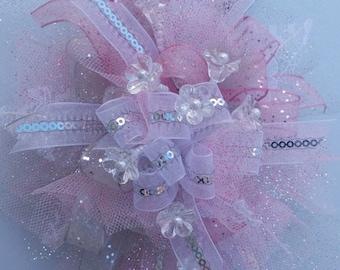 Silk wrist corsage...It's Prom Season, Bring On The Bling!