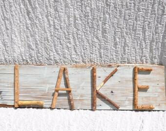 Rustic Wood Decor, Lake house decor, lake sign, lake decoration, wall decor for lake, sign rustic home, lake sign, beach sign, cabin decor