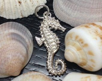 Hippocampus Pendant, 925 Sterling Silver