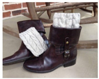 Cabled boot toppers