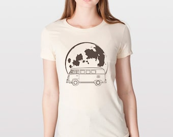 KillerBeeMoto: Limited Release German Engineered Hippie Carrier Moon Bus Transport Cartoon Version T-Shirt