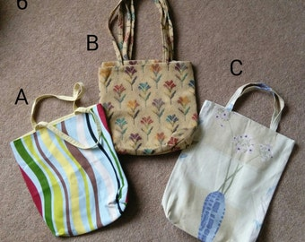 Squared bottom Cotton Tote Bag Fully Lined