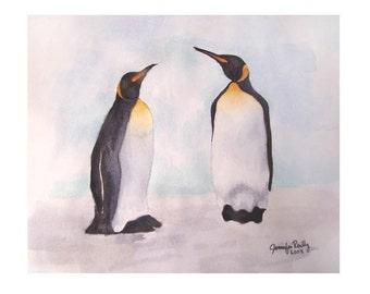 Watercolor Penguin Print