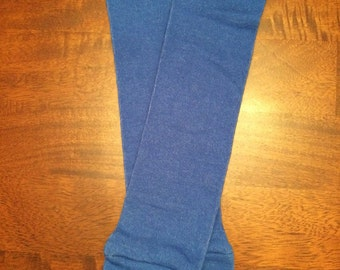 Royal and Purple Leg Warmers or Boot Cuff