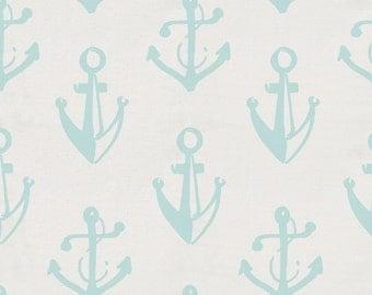 Mist Anchors Organic Fabric - By The Yard - Boy / Girl / Gender Neutral