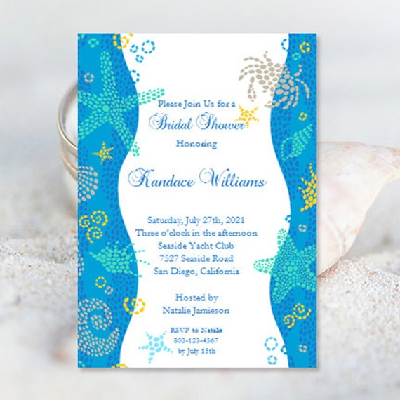beach bridal shower invitations wedding shower invitation. Black Bedroom Furniture Sets. Home Design Ideas