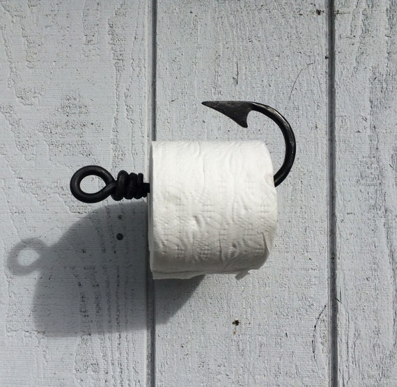 Toilet Paper Holder Fishing Hook Tissue Holder By